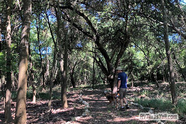 Hiking at Rocky Creek Park