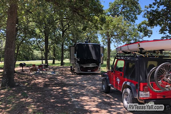 Our Campsite at Yegua Creek Park