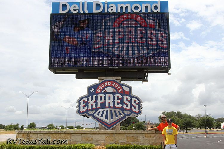Dell Diamond sign