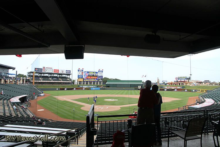 view behind home plate