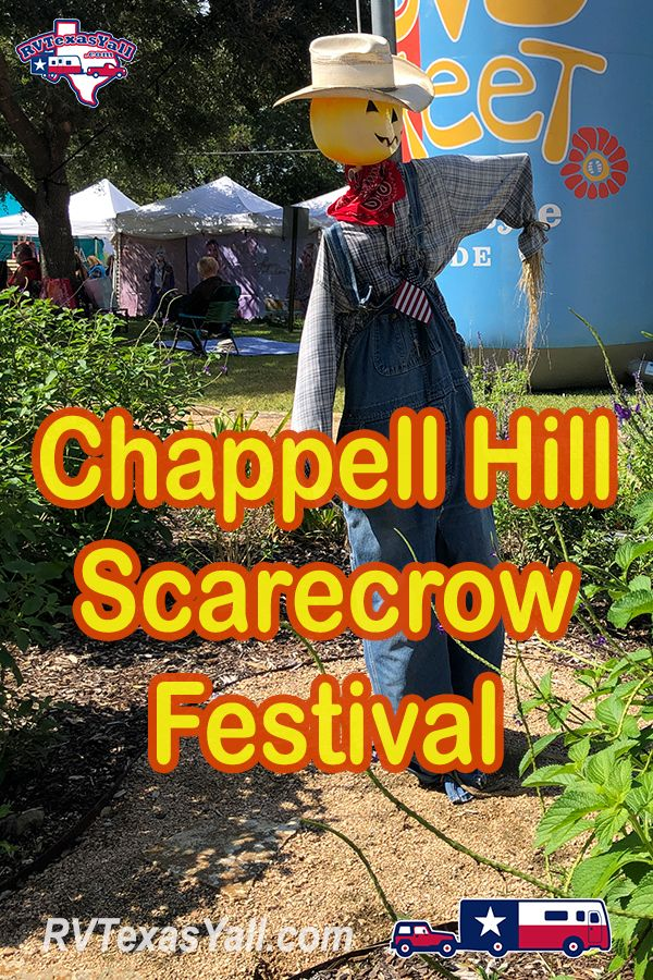 Chappell Hill Scarecrow Festival | RVTexasYall.com takes you to the annual family-friendly Scarecrow Festival in Chappell Hill, Texas!