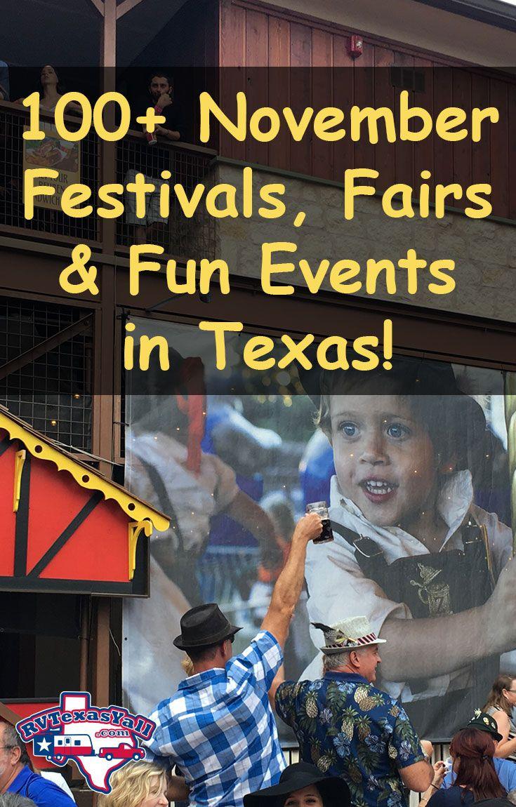 100+ November Festivals, Fairs and Fun Events in Texas! | RVTexasYall.com