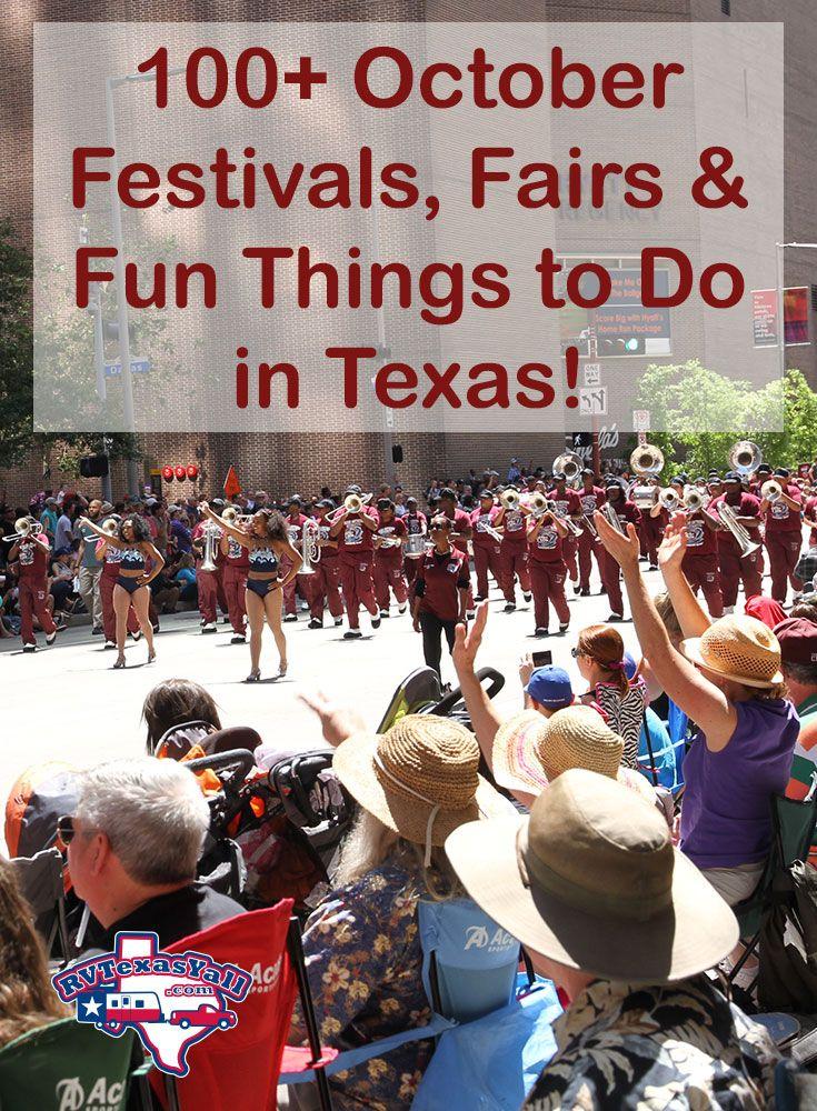 100+ October Festivals, Fairs and Fun Events in Texas! | RVTexasYall.com