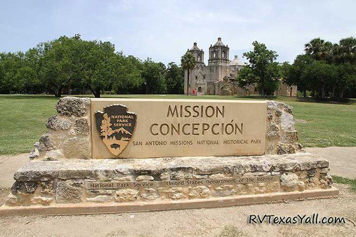 Mission Concepcion Sign