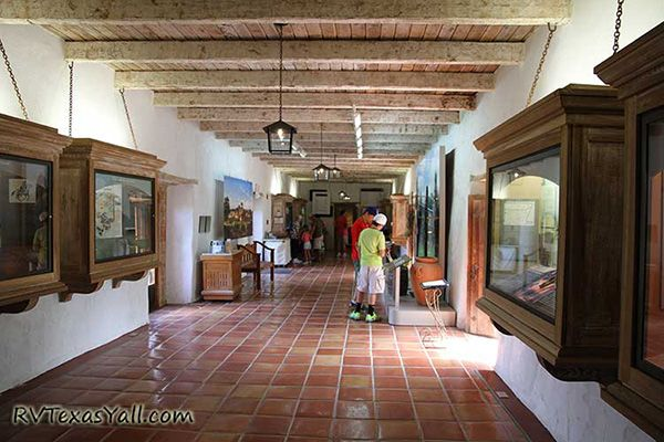Exhibits at Mission San Juan