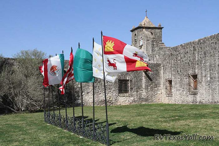 9 Flags at Presidio La Bahia