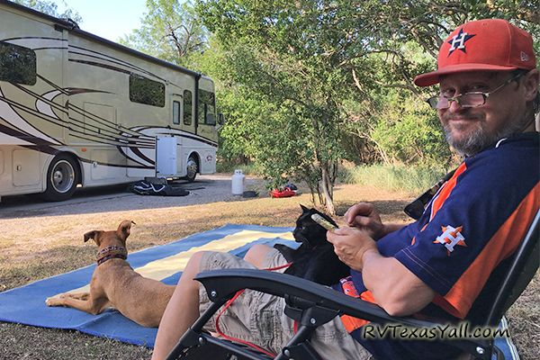Relaxing at Lake Corpus Christi