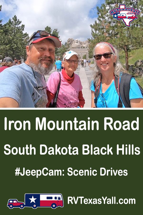 Iron Mountain Road, South Dakota | RVTexasYall.com | Join us as we drive Iron Mountain Road from Custer State Park through the Black Hills National Forest to Mount Rushmore.