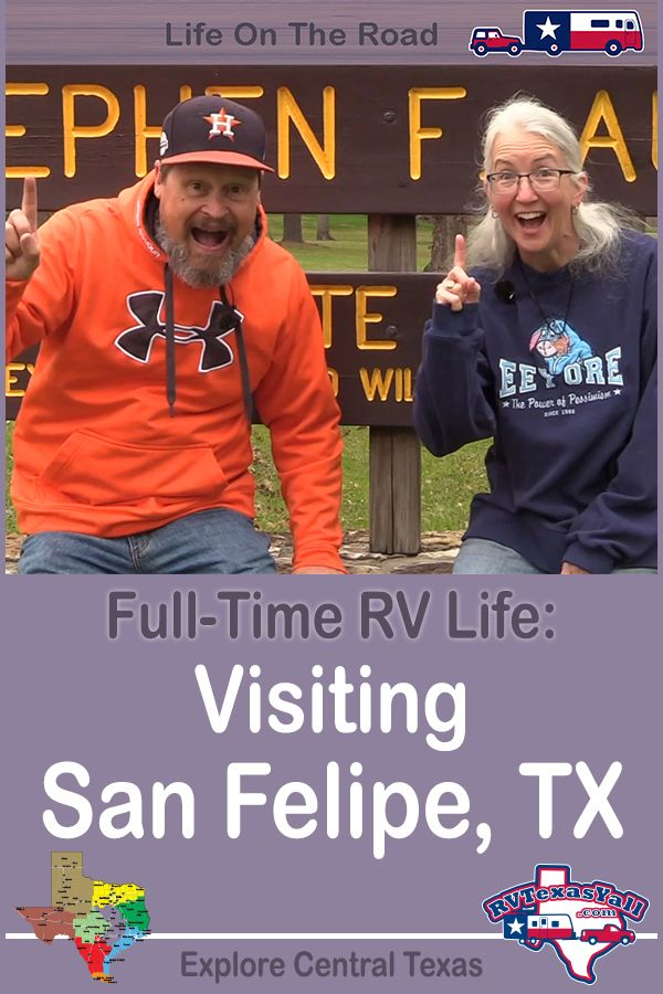 Visiting Historic San Felipe TX | RVTexasYall.com | Our first stop on our full-time RV travels takes us to San Felipe, Texas, home to Stephen F Austin State Park and San Felipe de Austin State Historic Site.
