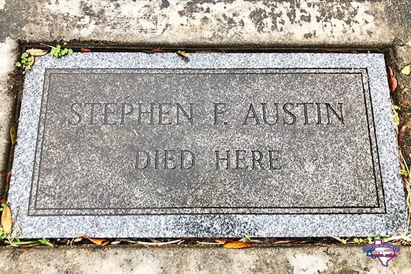 Stephen F Austin Marker at the McKinstry Homesite