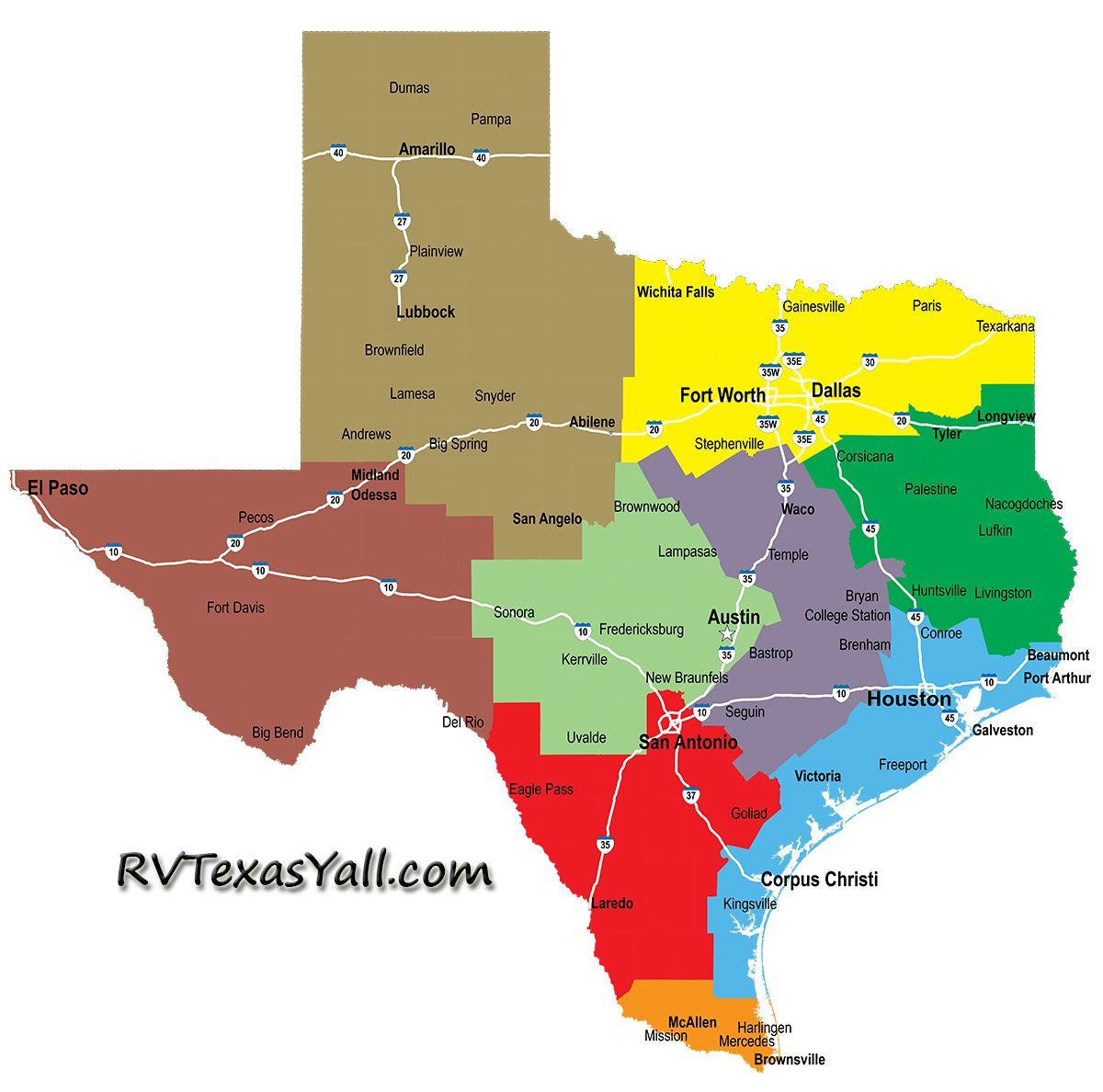 RVTexasYall.com map