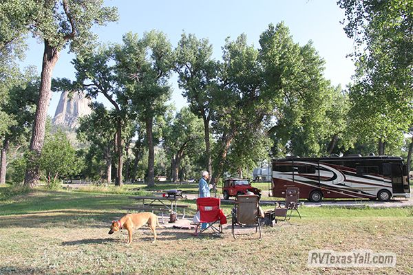 Our Campsite at Belle Fourche River Campground