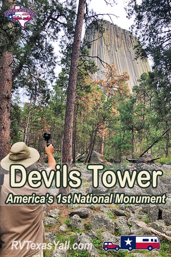 Devils Tower | #BeyondTX | RVTexasYall.com | Visiting America's 1st National Monument.