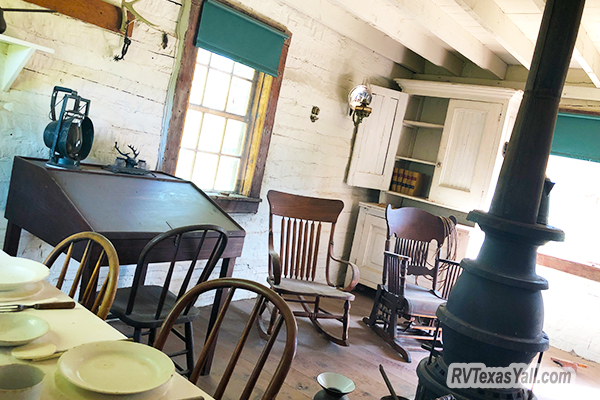 Inside Roosevelt's Maltese Cross Cabin