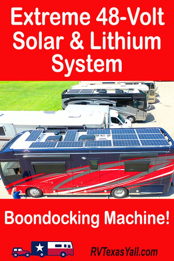 RV Solar and Lithium: Our Extreme 48 Volt System | RV Texas Y'all