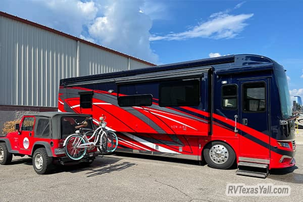 Arriving at Master Tech RV