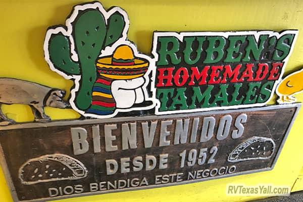 Ruben's Homemade Tamales Sign