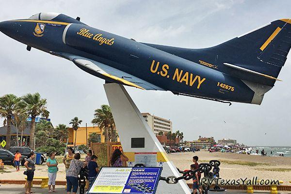 Blue Angels Plane at USS Lexington