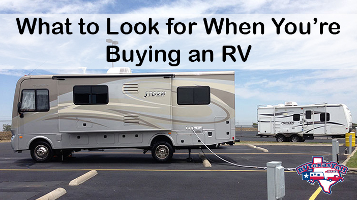 What to Look For When You're Buying an RV