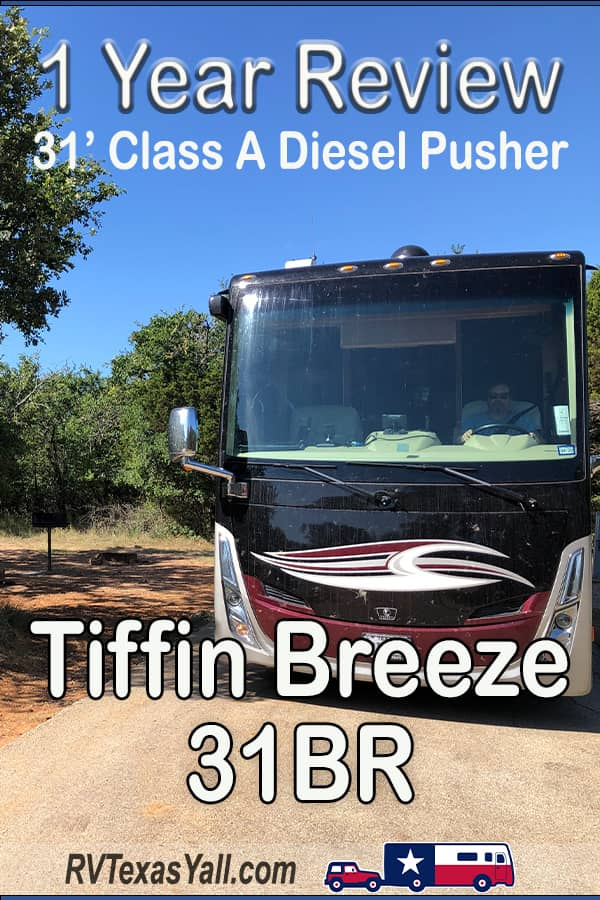 Tiffin Breeze 1 Year Review | RVTexasYall.com