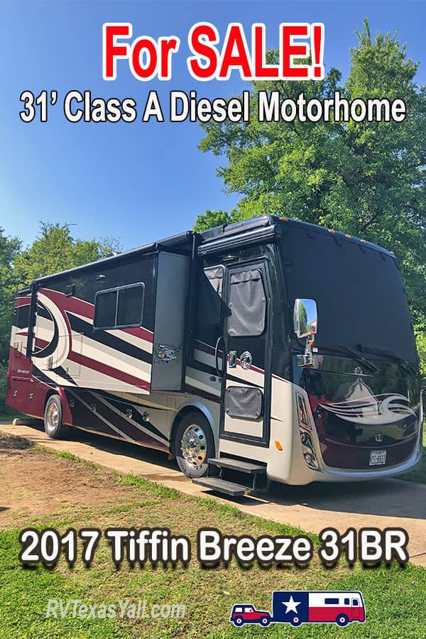 2017 Tiffin Breeze 31BR Class A Diesel Motorhome For Sale | RV Texas Y'all