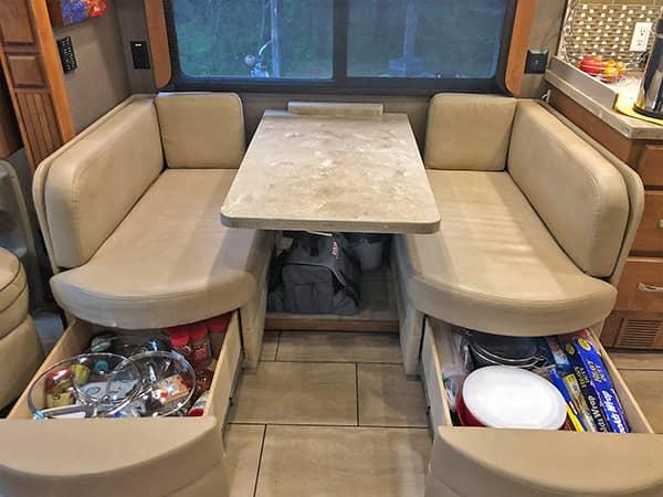 Storage Under Dinette Seats