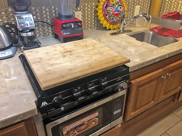 Custom Cutting Board Stove Topper