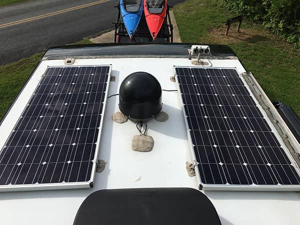 320 Watts of Solar on Roof
