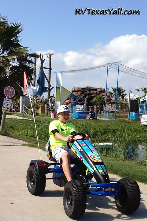 Riding the Fun Carts at Jamaica Beach