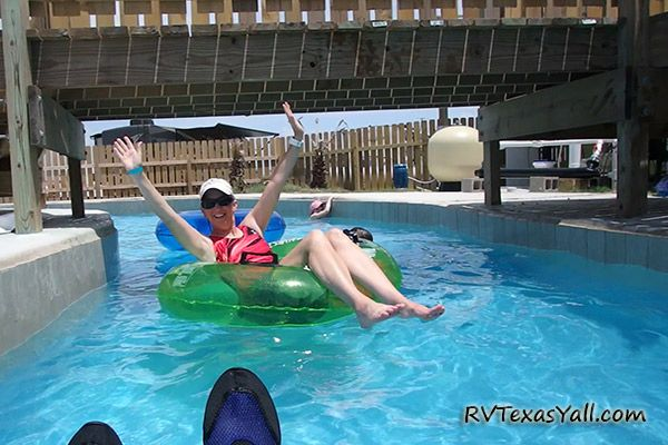 Floating the Lazy River at Jamaica Beach RV Park