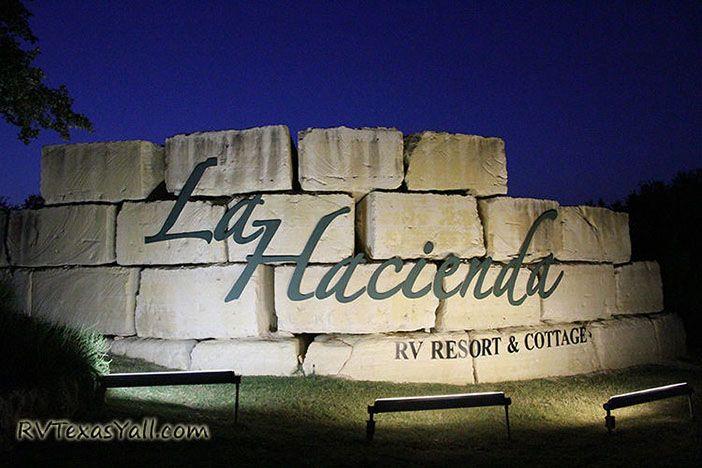 La Hacienda RV Resort sign