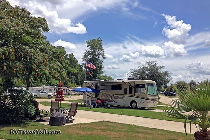 Our campsite at Rayford Crossing RV Resort