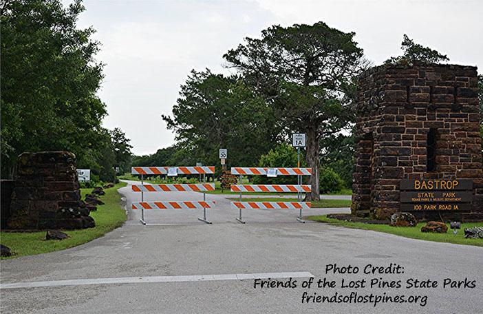 Bastrop State Park Entrance
