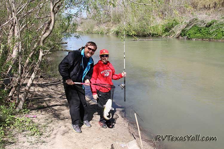 Fishing in the San Antonio River