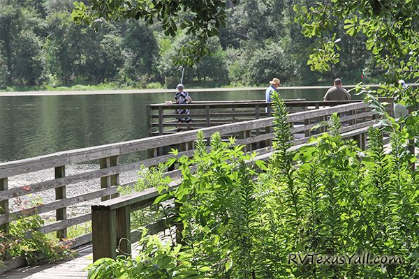 Huntsville State Park has 2 Lighted Fishing Piers