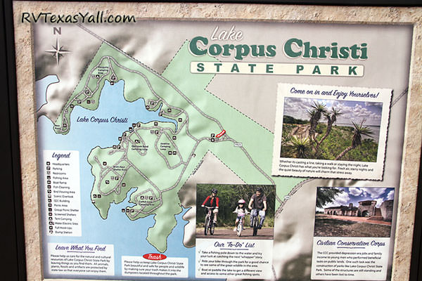 Lake Corpus Christi State Park Map