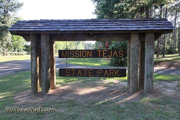 Mission Tejas State Park Sign