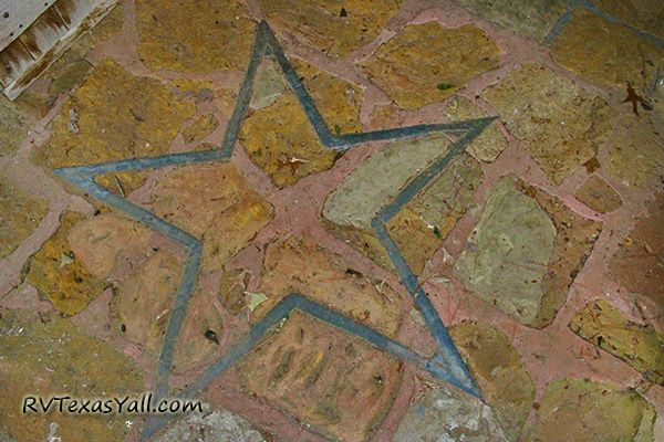 Star Embedded in the Floor of Mission Tejas