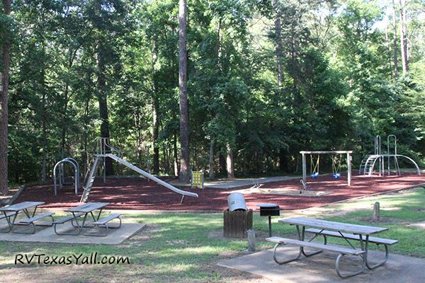 Playground at Mission Tejas State Park