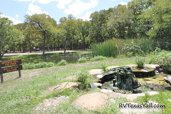 CCC Built Artesian Well and Ponds at Palmetto State Park