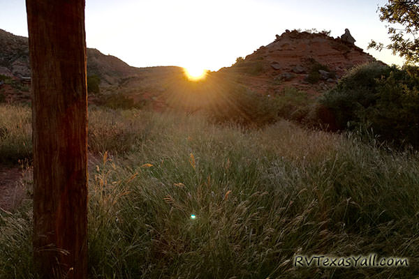 Sunrise at Palo Duro Canyon