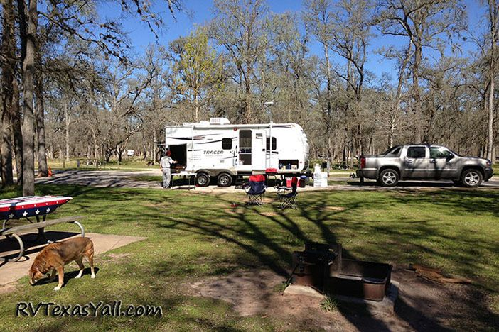 Campsite at Stephen F Austin State Park