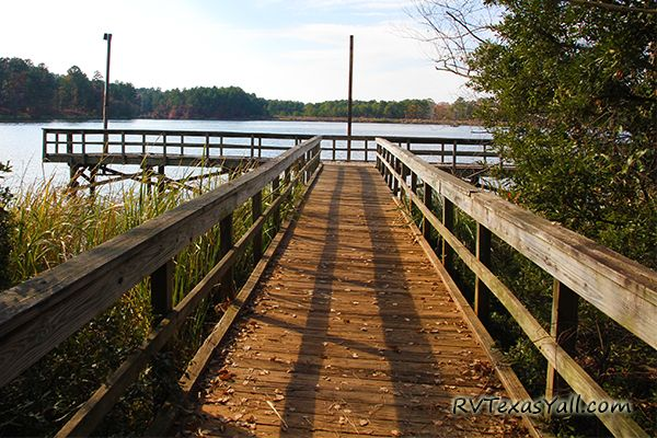 Tyler State Park has 2 Lighted Fishing Piers